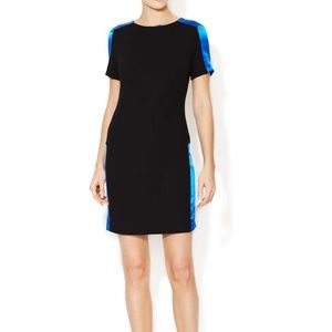 Sandro Little Black Dress with Silk Accents